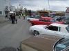 29 biler på vårmønstringa på torget på Bardufoss i OK vårvær.