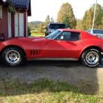 Corvette Stingray C3, 1970 model, ombygd til 1980 karosseri.  350 motor, th400 gear, ca 430 hk. 1.g. reg. i Norge 15.06.01 i Skien.