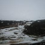 Begynner og tine i bakkene opp til Målselv Fjellandsby