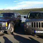 Jeep Chereokee Laredo 1990 mod og Jeep Patriot 2007 mod.