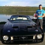 Ford Mustang Cab 72 mod, Vinner Cruiser of the night, John Bernhard Andersen
