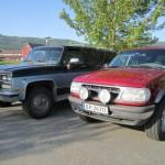 Chevrolet Surburban V20 4x4 1989 mod og Ford Explorer 1989 mod.