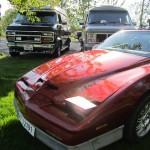 PONTIAC FIREBIRD 1987 mod. med Chevrolet Starcraft og GMC Vandura bak, begge 89 mod.